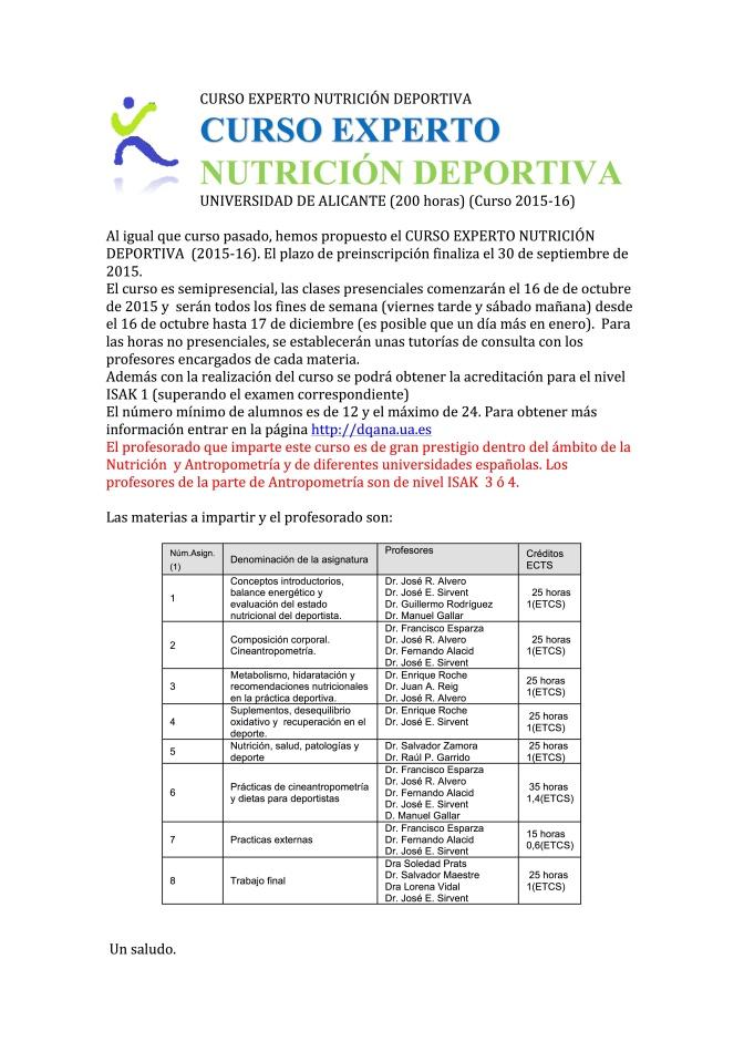 INF CURSO EXP AMPLIAC PREINSCRIPCIÓN NUTRIC DEPORTIVA
