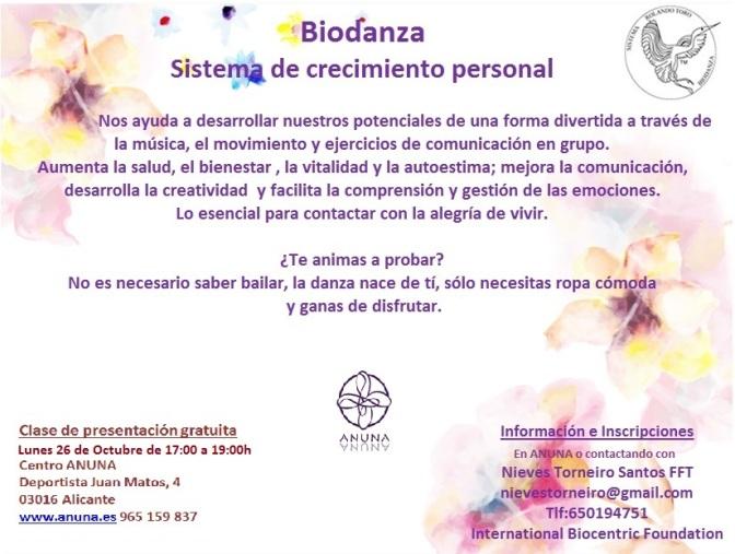 Biodanza en ANUNA