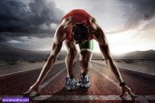 Sports background. Runner.