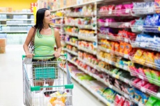 Woman in the supermarket